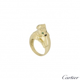 Cartier Yellow Gold Double Panthere De Cartier Ring